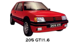 r tr 39 auto sport sp cialiste pi ces 205 gti simca 1000 rallye 1 2 3 peugeot 205 gti 1 6. Black Bedroom Furniture Sets. Home Design Ideas