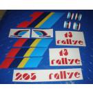 Kit autocollants 205 Rallye
