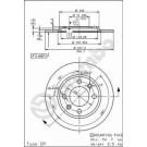 Disques de freins arrières 205 GTI 1.9 - 309 GTI / GTI16 Groupe N BREMBO