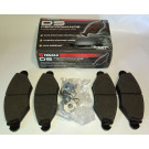 Plaquettes avant FERODO DS PERFORMANCE 206 1.9 Diesel (montage étrier dans roues 205 Rallye en 13 pouces)