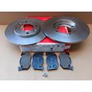 Pack BREMBO disques + plaquettes arrières pour Peugeot 205 GTI 1.9 - 309 GTI / GTI16