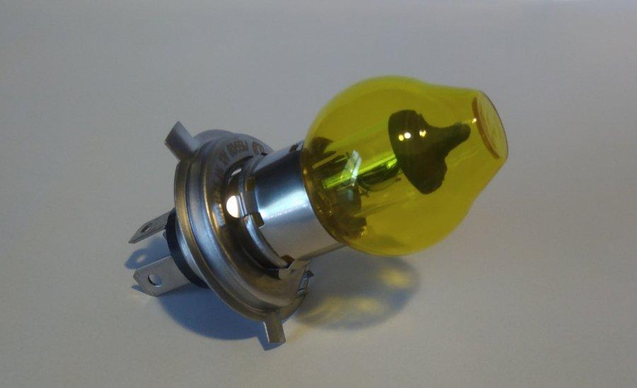 Ampoule H4 globe jaune